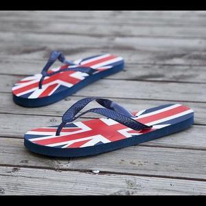 Mens Summer Flip Flops Fashion Beach Slippers Sandals-Blue