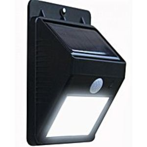 AlphaTronix High Quality Solar Sensor Motion Activated LED Light - Black