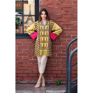 So Kamal Winter Collection  Brown Linen Embroidered 1PC -Unstitched Shirt DPW18 693 EF01258-STD-BRN