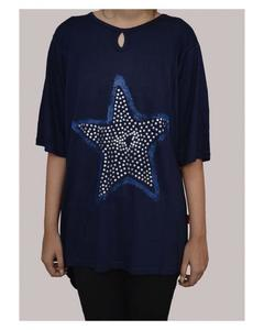 Navy Blue Viscose Tunic for Women