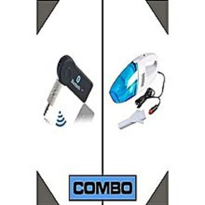 LifeStyleCombo of Car 1 Bluetooth Music Receiver + 1 Vacuum Cleaner