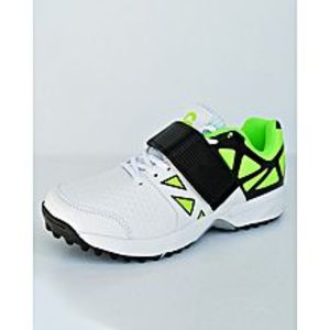 BEST OFFERS Green - Black And White Cricket Gripper Shoes For Men