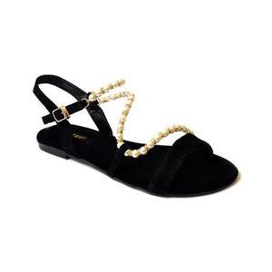 Black Small Heel Formal Sandal - Black - 10