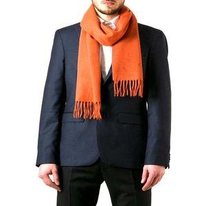 Orange Wool Muffler For Men
