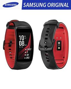 Original Samsung Gear Fit 2 Pro Smart Fitness Sports Band with GPS- Red