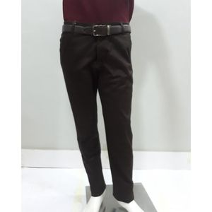 Brown Chino Cotton Jeans For Men - JES056