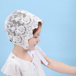 Charming Breathable Baby Girls Sun Hat Summer Cute Lace Bowknot Cap white