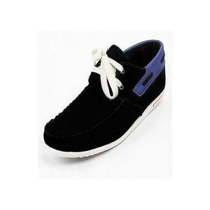 Black Canvas Stylish Ankle Sneaker for Men