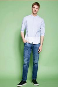 Export Quality Stretch Slim Fit Jeans Men's Blue Denim Jeans