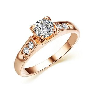 Rose Gold Color Top Quality Zirconia Ring Love Gift For Her