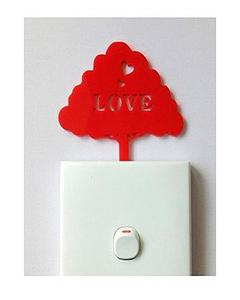 Red Tree Love Acrylic Wall Art