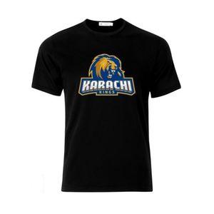 Black PSl Karachi King Printed T-shirt For Men