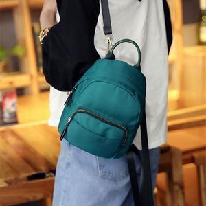 Women Mini Backpack Nylon Shoulder School Travel Bag Small Casual Rucksack Tote Blue