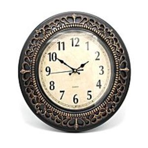 La Raffinee Antique Descent Wall Clock - Brown - Medium - 14X14""