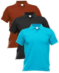 Pack Of 3 - Multicolor Cotton Polo Shirts For Men