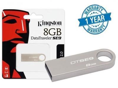Original Kingston 8GB USB Flash Drive High Speed Travel Metal Body with One Year Warranty