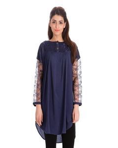 Blue Net Stylish Kurti For Her K03