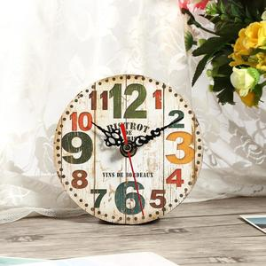 Retro Creative Antique Wall Clock Vintage Style Wooden Round Clocks Home Office Decoration (#3) - intl