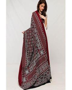 Multicolor Color 100% Cotton Sindhi Ajrak Shwals