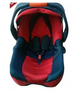 jumbo carry cot for baby - red & blue - pure plastic