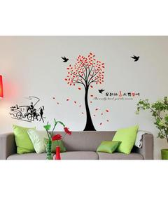 DM-6929 - Tree Wall Sticker - Black & Red