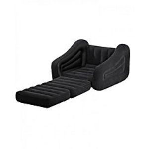 GiftsshopInflatable Pull Out Sofa Bed with Air Pump - Black