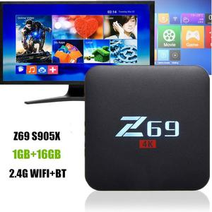 Z69 4K HD 3D TV Box Android 6.0 Amlogic S905X Quad Core 1GB+16GB 2.4G WiFi BT4.0 US