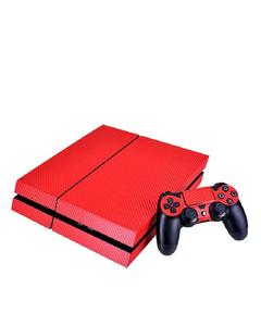 Protective Skin Sticker for PS4 - Plain Red