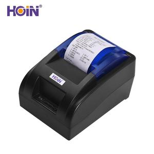 HOIN USB Portable 58mm Thermal Receipt Printer Ticket Bill Wired Printing Support Cash Drawer Compatible with ESC/POS for Windows/Linux/Android Systems for Supermarket Store Business