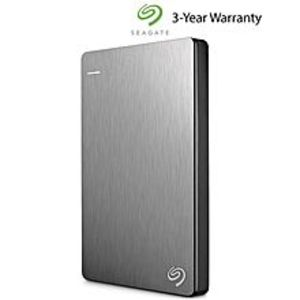 Seagate1TB Backup Plus Slim Portable External Hard Drive - Silver