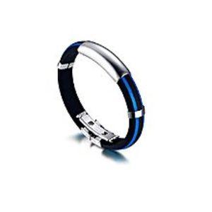 SoloNew Fashion Men Coll Punk Rock Stainless Steel Bracelet