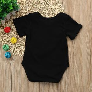 Perfect Meet new authentic warm Korean version of handsome Newborn Kids Baby Boys Outfits Clothes Letter Printing Romper Jumpsuit Pajamas