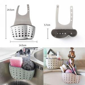1 High Quality Kitchen Sink Holders Drainer Organizer Shelf Soap Sponge Drain Rack Silicone Storage Basket Bathroom Gadgets Caddy
