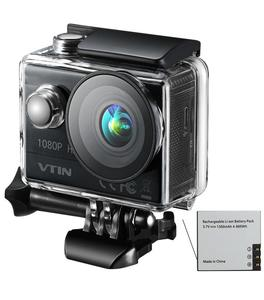 VTIN Action Camera, [180 min Recording Time] 1080P Sport Camera Action Cam with 170 Degree Ultra Wide Angle Lens, Full HD 12MP Underwater to 99ft Digital Video Camera (with 2 Inch LCD Screen, 1350 mAh Rechargeable Battery, Outdoor Accessories Kits)