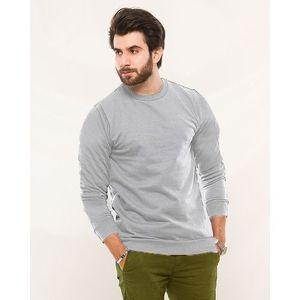 Heather Grey Fleece Sweat Shirt For Men - Esfsh1033hgm