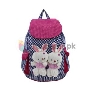 Two Cute Bunny Stylish Bag - 4 Pockets Women, Ladies & Girls Backpack