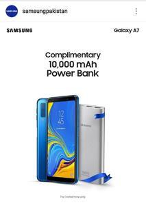 Samsung Galaxy A7 2018 128Gb / 4Gb with 10000Mah Power bank