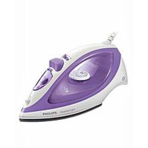 PhilipsGC1418/02 - FeatherLight Steam Iron - Purple & White (Brand Warranty)