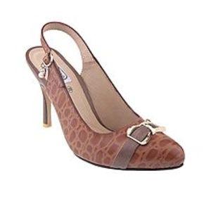 Castillo Alla ModaBrown Leather Coat Shoe for Women - C1