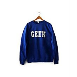 Brand X T-Shirts Royal Blue Fleece Sweatshirt For Women