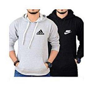 POSPack Of 2 Black & Grey Kangaroo Hoodies For Men