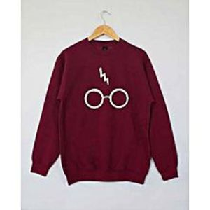 Aybeez Maroon Sweat Shirt Glasses Style for women
