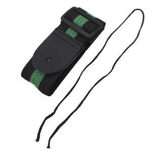 TE Adjustable Guitar Strap Nylon Webbing Leather End Acoustic Electric Bass Belt