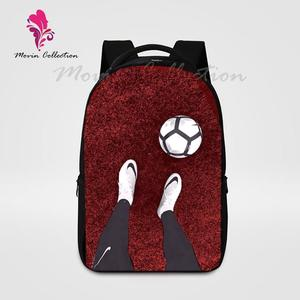 Red Football Shoes Printed Backpack