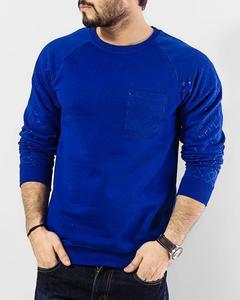 Royal Blue Fleece Sweatshirt With Front Pocket