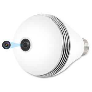 VESKYS 1536P 3.0MP 360 Degree Fish Eye Lens Wireless Wi-Fi Full View Light Bulb Shape lnfrared And White Light IP Camera