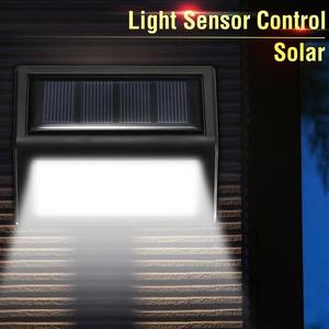 6 LEDS Solar Panel PIR Motion Sensor Wall Light Outdoor Waterproof Garden Lamp Pure White