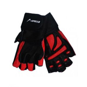 Apollo Pair of Weightlifting Gloves 0456 - Black and Red