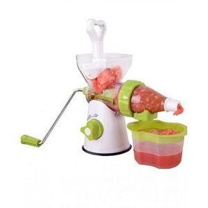 SISTERS CHOICE 4-In-1 - Meat Grinder  Juicer  Mincer & Sausage Stiffer - White & Green