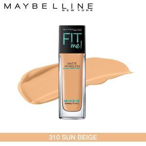 Maybelline New York Fit Me Matte + Poreless Foundation (310 Sun Beige-30ml)